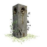 woofer en pierre de jungle de système de son de haut-parleur de réception Photographie stock libre de droits