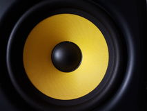 Woofer sain jaune Photographie stock libre de droits