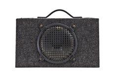 Woofer sonore de cadre de grondement de véhicule de cru d'isolement Photographie stock