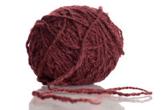Wool. Ball of Wool isolated on a white background Stock Photos
