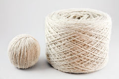 Wool. Tow white wool roll close-up Stock Photography