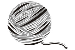 Wool. Art illustration of a ball of wool Royalty Free Stock Photo