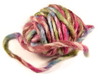 Wool. Colorful wool ball in a isolated close-up Stock Images
