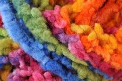 Wool. Multicolored wool in a macro shot Royalty Free Stock Image