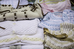 Wool baby clothes Royalty Free Stock Photos