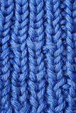 Wool background. Macro blue Royalty Free Stock Photography