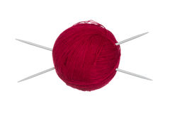 Wool ball and knitting needles Stock Photography