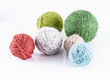 Wool balls. Image of skein of wool yarn isolated close up Royalty Free Stock Photography
