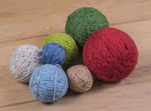 Wool balls Stock Images
