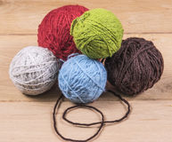 Wool balls Royalty Free Stock Images