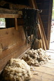 Wool in a barn Royalty Free Stock Images