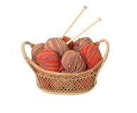 Wool Basket Royalty Free Stock Photos