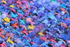Wool black with colored speckles Royalty Free Stock Photos