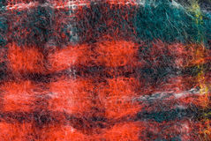 Wool blanket. Red wool blanket close-up showing all the texture. Makes a great Christmas background Stock Photography