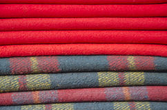 Wool blanket background in asia market Royalty Free Stock Images