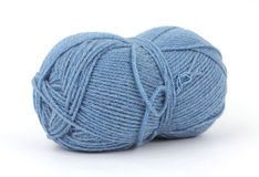 Wool blend blue yarn Stock Photography