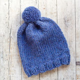 Wool blue hat Stock Image