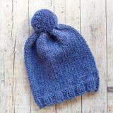 Wool blue hat Stock Image