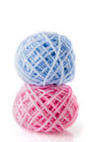 Wool in blue and pink Royalty Free Stock Images