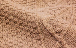 Wool brown fabric Royalty Free Stock Photo