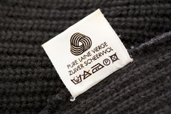 Wool care symbol Stock Photos