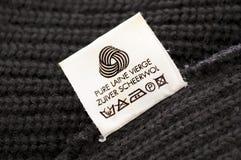 Wool care symbol. Close up Stock Photos