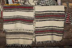 Wool carpet. Woven wool carpet for sale in fair in Bucharest, Romania royalty free stock photography