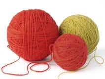 Wool clews 1. Some colorful wool yarn clews Stock Image