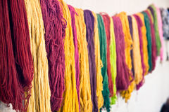 Wool. Close-up of multi colored wool string Royalty Free Stock Images