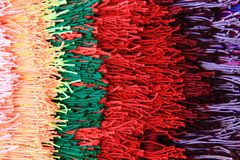 Wool color rainbow texture Stock Image