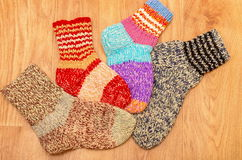 Wool colored socks Stock Photography