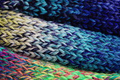Wool. Colorful wool and scarf - needlecraft Stock Images