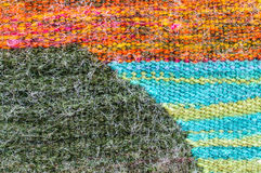 Wool colors fabric pattern surface Royalty Free Stock Photos