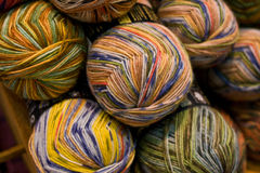 Wool and cord reels Royalty Free Stock Photography