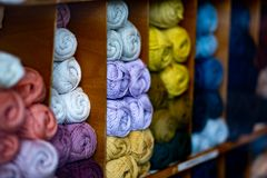 Wool cotton knitting knit material. Wool cotton knitting material stock image