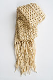 Wool cream  scarf Stock Images