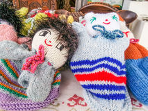 Wool dolls Stock Images