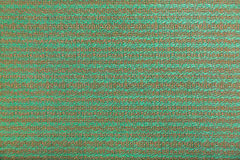 Wool fabric with green and brown geometric pattern Royalty Free Stock Image