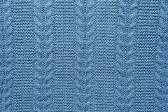 Wool fabric pattern colored in blue Royalty Free Stock Photo