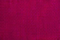 Wool fabric with pink geometric pattern Stock Photos
