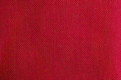 Wool fabric with red geometric pattern Stock Photo