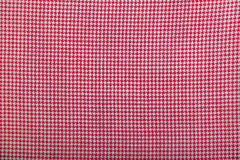 Wool fabric with red geometric pattern Royalty Free Stock Photography