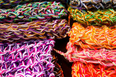 Wool fabrics, colors Royalty Free Stock Images
