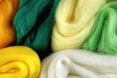 Wool for felting Royalty Free Stock Photo