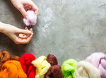 Wool for felting Royalty Free Stock Image