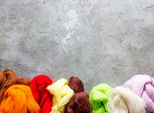 Wool for felting Stock Image