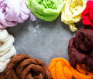Wool for felting Royalty Free Stock Photos