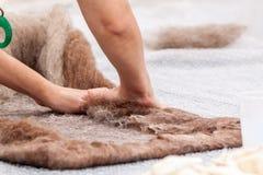 Wool felting Royalty Free Stock Images