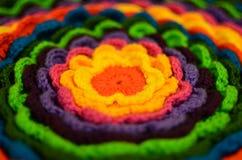 Wool flower macro Royalty Free Stock Photo