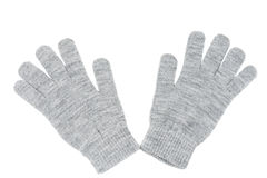Wool gloves isolated Stock Photography